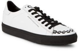 John Galliano Braided Leather Sneakers