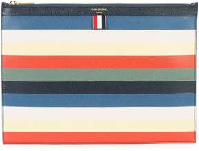 Thom Browne striped zip pouch