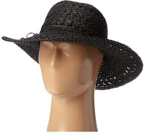 Scala Big Brim Crocheted Toyo Hat Caps