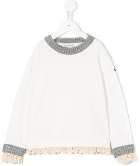Moncler lace trim sweatshirt
