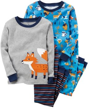 Carter's Baby Boy 4-pc. Animal Tops & Pants Pajama Set