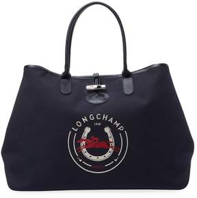 Longchamp Women's Logo Tote Bag - DARK BLUE/NAVY - STYLE