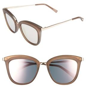Le Specs Women's Caliente 53Mm Cat Eye Sunglasses - Matte Mocha