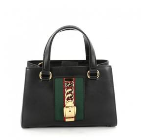 Gucci Black Leather Handbag - BLACK - STYLE