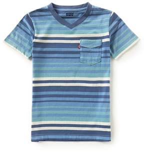 Levi's Big Boys 8-20 Striped Sunset Pocket Tee