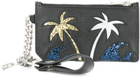Saint Laurent Paris Fragments Sea, Sex & Sun keyring zip pouch