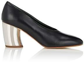 Proenza Schouler Women's Curved-Heel Leather Pumps