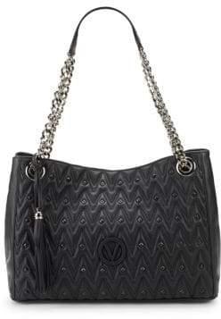 Mario Valentino Verad Leather Shoulder Bag