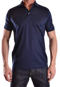 Dalmine Men's Blue Cotton Polo Shirt.