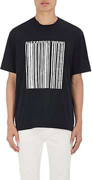 Alexander Wang Men's Barcode Logo Cotton Oversized T-Shirt