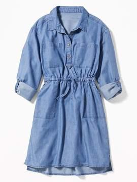 Old Navy Indigo Utility Shirt Dress for Girls