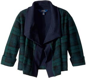 Polo Ralph Lauren Tartan-Print Fleece Cardigan Girl's Sweater