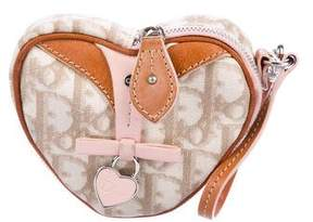 Christian Dior Leather-Trimmed Heart Pouch