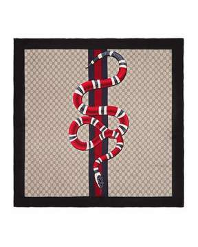 Gucci GG King Snake Square Scarf