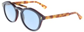 Gucci GG0124S 003 Blue Havana Round Sunglasses