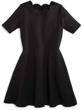Aqua Girls' Scalloped Dress, Big Kid - 100% Exclusive