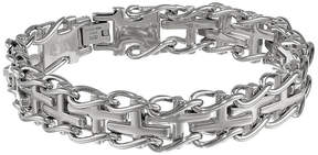 JCPenney FINE JEWELRY Mens Stainless Cross Link Bracelet