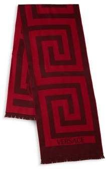 Versace Patterned Maze Wool Scarf