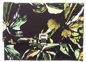 Proenza Schouler Floral Canvas Clutch