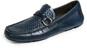 Salvatore Ferragamo Front Side Bit Woven Loafers