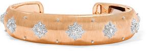 Buccellati Macri 18-karat Pink And White Gold Diamond Cuff