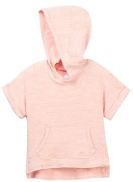 Joe's Jeans Heather Heavy Jersey Short Sleeve Hoodie (Little Girls)