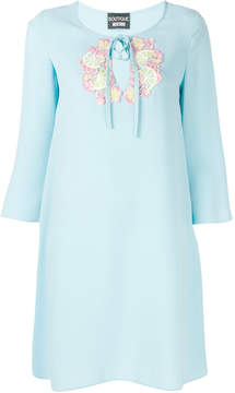 Moschino embroidered neckline dress