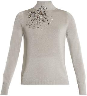 DELPOZO Embellished high-neck sweater