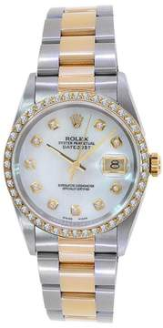 Rolex DateJust Turn-O-Graph 18K Yellow Gold & Stainless Steel Diamond Dial Watch