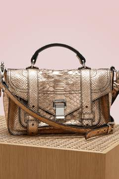 Proenza Schouler PS1+ python embossed shoulder bag