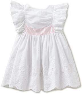 Edgehill Collection Little Girls 2T-4T Bow-Back Dress