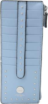 Lodis Pismo Stud RFID Credit Card Case with Zipper Pocket Wallet