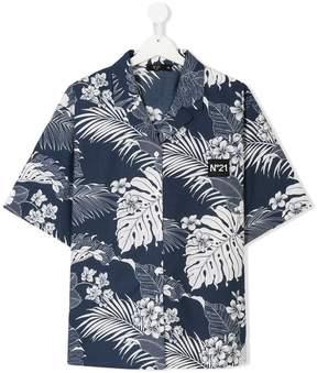 No.21 Kids TEEN floral print shirt
