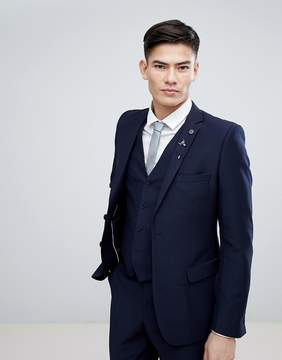 French Connection Birdseye Weave Slim Fit Suit Jacket
