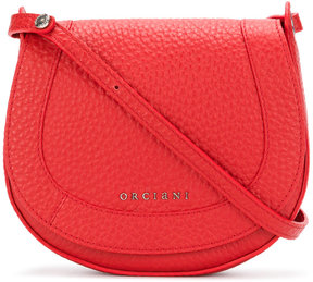 Orciani logo embossed cross body bag