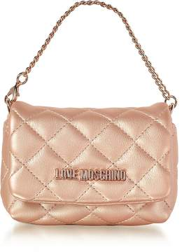 Love Moschino Mini Bag Copper Eco-Leather Clutch