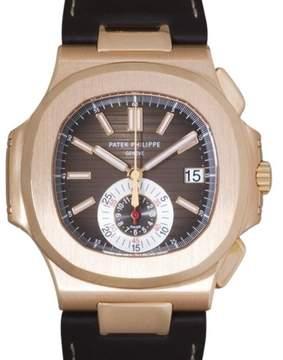 Patek Philippe Nautilus 5980R-001 18K Rose Gold & Brown Dial 40.5mm Mens Watch