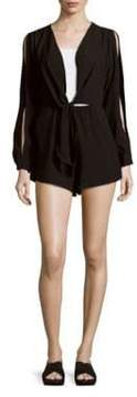 Finders Keepers Buckets of Rain Long Sleeve Short Romper
