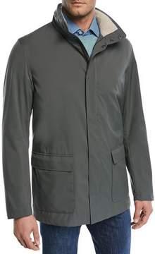 Loro Piana Voyager Zip-Front Coat