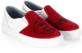 Chiara Ferragni Embroidered Slip-On Sneakers
