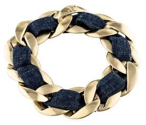 Chanel Woven Curb Chain Bracelet