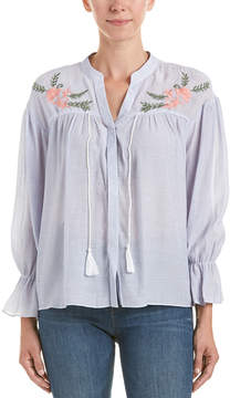 En Creme Total Embroidered Top
