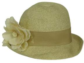 Nine West Women's Removeable Flower Pin Straw Hat (Straw, OS)