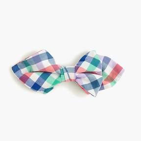 J.Crew Boys' cotton bow tie in rainbow plaid