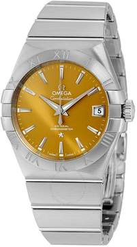 Omega Constellation Co-Axial Bronze Dial Stainless Steel Men's Watch .
