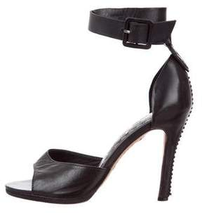 Alice + Olivia Leather Multistrap Sandals