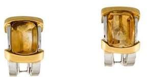 Damiani 18K Two-Tone Citrine Earrings