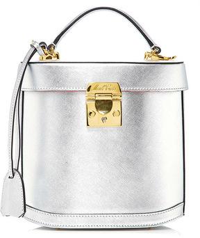 Mark Cross Benchley Metallic Saffiano Leather Bag