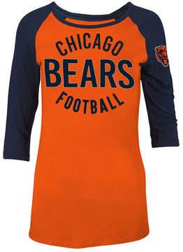 5th & Ocean Women's Chicago Bears Rayon Raglan T-Shirt
