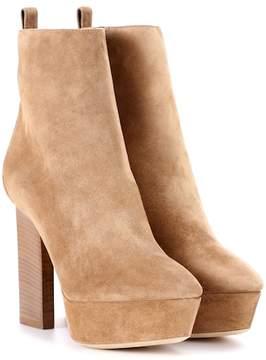 Saint Laurent Vika 95 suede plateau ankle boots